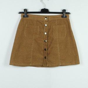 Cooperative Miniskirt beige-camel cotton