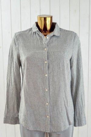 COOPERATIVE Damen Bluse Hemd Gestreift Blau Weiß Baumwolle Gr.L