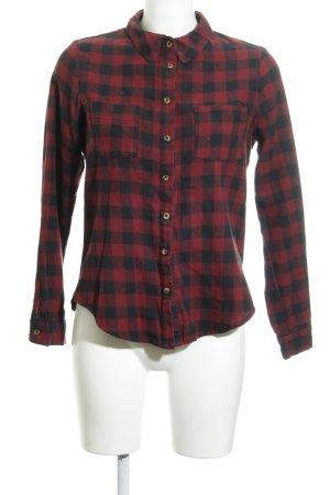 Cooperative Lumberjack Shirt bordeaux-black check pattern classic style