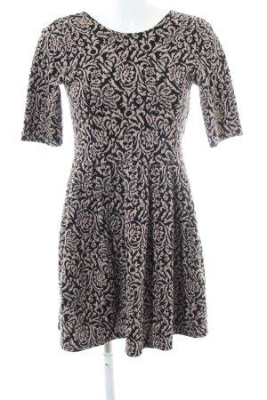 Cooperative Mini Dress black-natural white allover print casual look