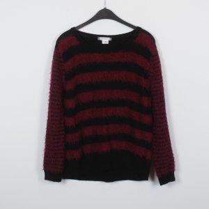COOPERATIVE Pullover Gr. L schwarz violett gestreift (18/10/430)