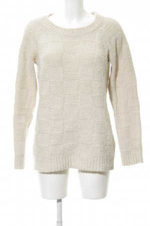 Cooperative Knitted Sweater natural white classic style