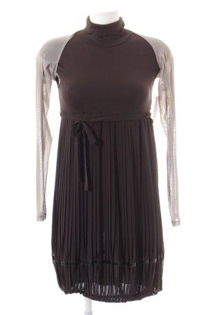 Cop Copine Kleid schwarz-dunkelgrau Elegant