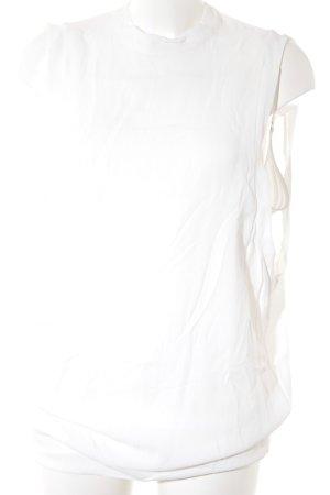 Cop Copine Kurzarm-Bluse weiß Elegant
