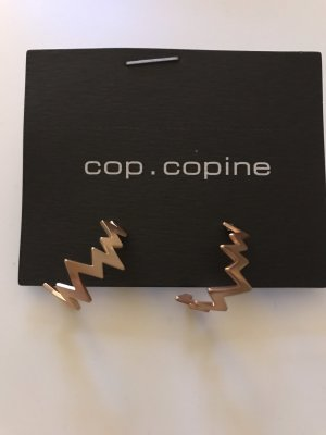 Cop Copine Ear Hoops rose-gold-coloured