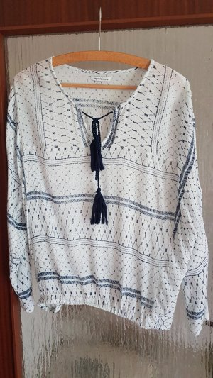 Copo da Nieve Oversized Blouse white-dark blue viscose