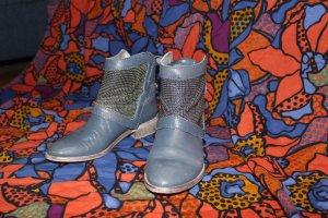 Copo de Nieve Metallic blaue Stiefeletten mit Metallplättchen