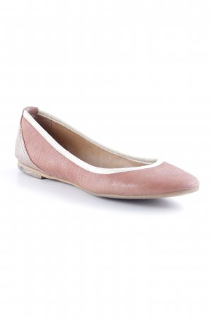 Coqueterra Ballerines Mary Jane or rose style d'affaires