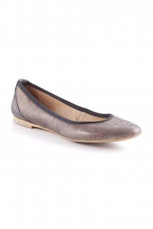 Coqueterra Mary Jane Ballerinas schwarz-hellbraun Business-Look