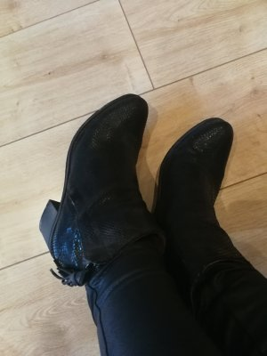 Coqueterra Booties black leather