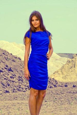 CORA gerafftes Jerseykleid von LOUISA OKONYE, Größe 34 *SALE*