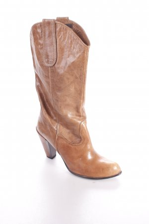 Coralblue Westernstiefel cognac-schwarz Country-Look