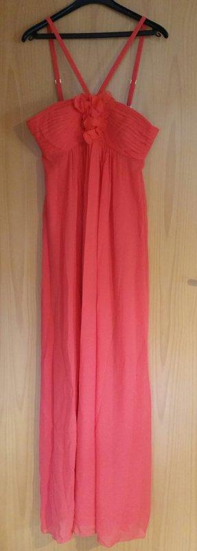 Coralfarbenes Seidenkleid von BCBG Max Azria
