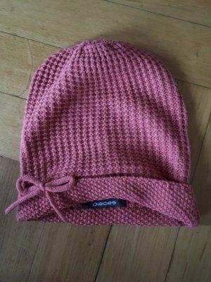 Pieces Bonnet en crochet saumon