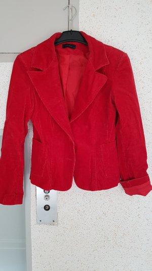 cord blazer gr. 38 rot