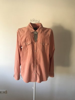 American Eagle Outfitters Long Sleeve Blouse apricot-salmon