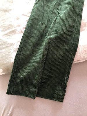 Zara Pantalón de pana verde bosque