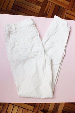 Cord-Hose Skinny mit Reißverschluss, Gr. 38, weiß