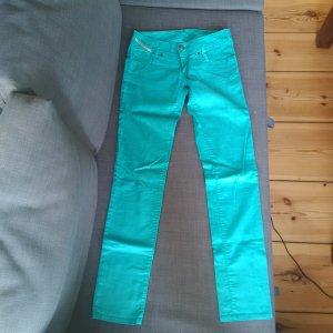 Cord Jeans mint grün petrol blau 27