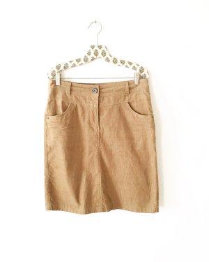 Vintage High Waist Skirt camel-beige
