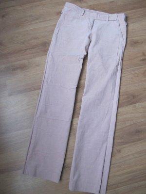 Zara Pantalone di velluto a coste rosa pallido Cotone