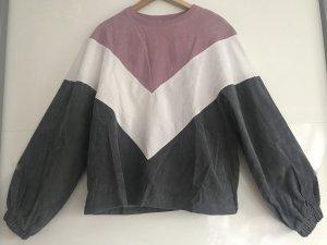 Jersey largo gris-violeta grisáceo