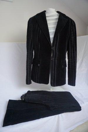 Cordanzug, Kostüm, Hosenanzug Mango Gr. 36 schwarz