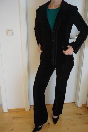 Cordanzug, Kostüm Mango Gr. 36 schwarz