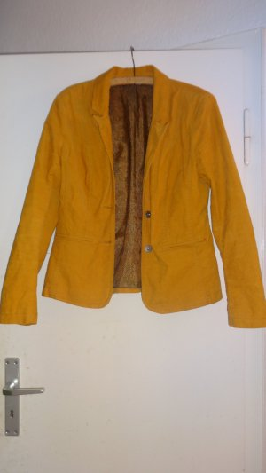 Street One Jersey blazer goud Oranje-licht Oranje Katoen