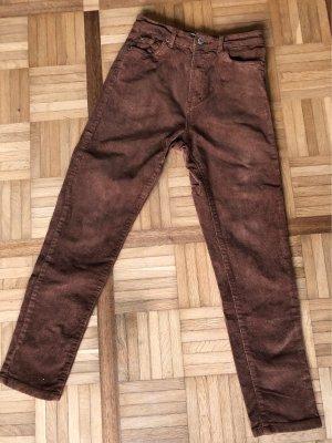 Pull & Bear Pantalone di velluto a coste multicolore