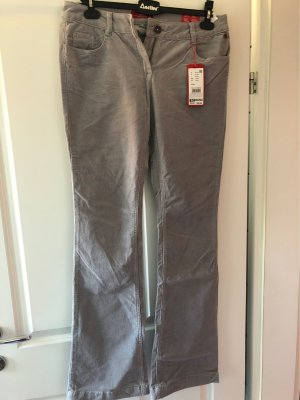 s.Oliver Corduroy Trousers silver-colored