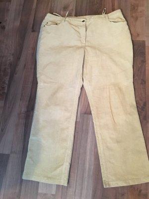 Pantalone di velluto a coste beige-beige chiaro Cotone
