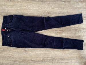 H&M Pantalón de pana azul oscuro