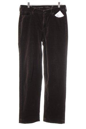 Pantalon en velours côtelé brun foncé effet velours