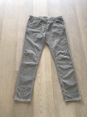Please Pantalone di velluto a coste marrone-grigio