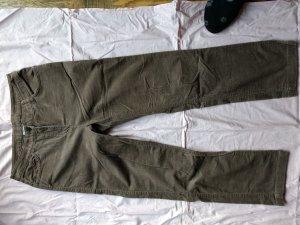 Cecilia Classics Pantalone di velluto a coste marrone-grigio-marrone chiaro