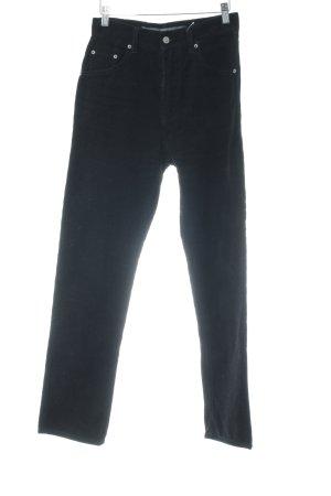 Pantalon en velours côtelé noir style décontracté