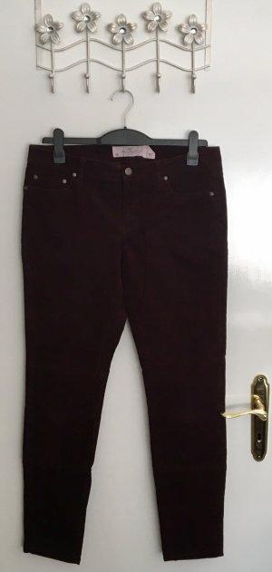 H&M L.O.G.G. Pantalone di velluto a coste viola-bordeaux