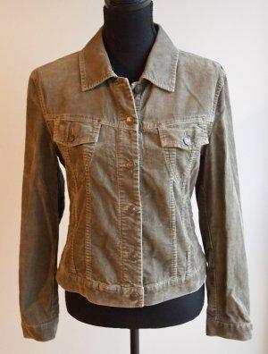 Cordjacke / Leichte Jacke in khaki / graugrün