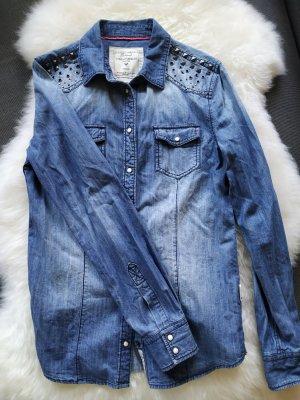 Cordon Berlin Jeanshemd Jeansbluse Hemdbluse Hemd Bluse Größe 36 S / 1A Zustand