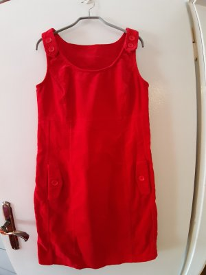 bpc Falda con tirantes rojo
