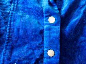 Cordrock glamorous Blau
