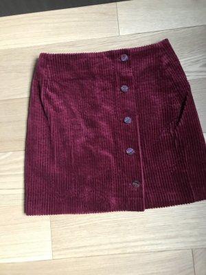 Des Petits Hauts Miniskirt dark red cotton