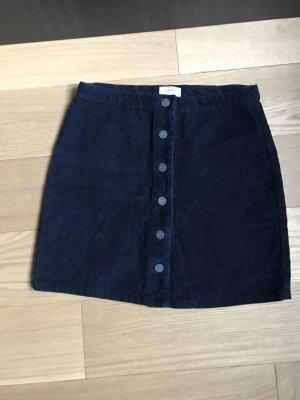 Minigonna blu scuro Cotone