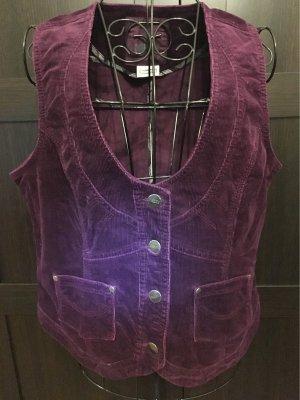 Street One Chaleco de tela vaquera rojo zarzamora-violeta amarronado