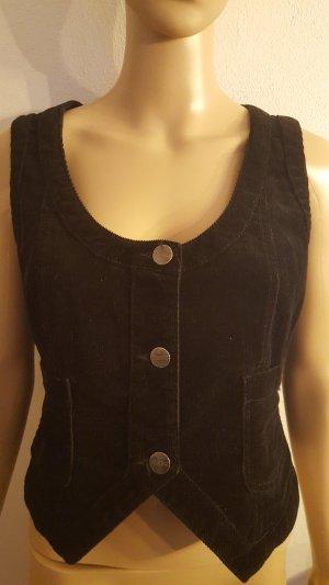 Street One Denim Vest black cotton