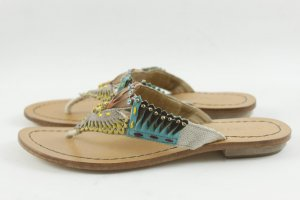 Coralblue Toe-Post sandals grey brown leather