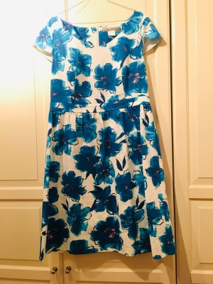 Ashley Brooke Empire Dress cornflower blue-white