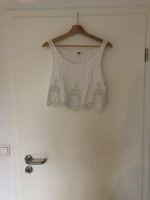 H&M Top corto bianco
