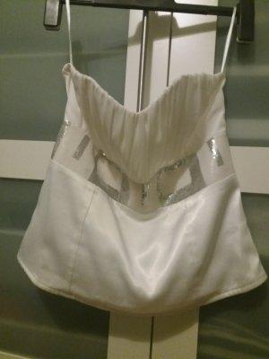 Corsage wit-zilver